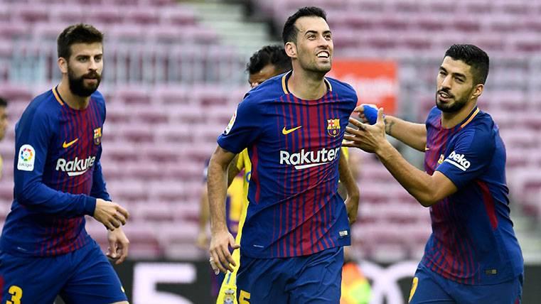 Sergio Busquets alcanza los 450 partidos con el Barcelona
