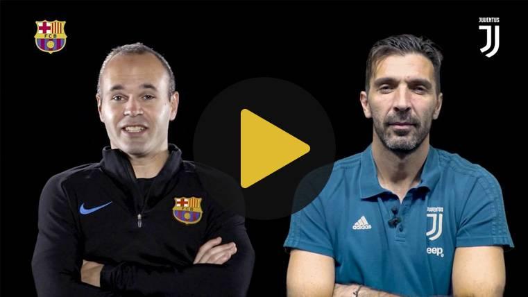El peculiar cara a cara de Iniesta y Buffon antes de la Champions