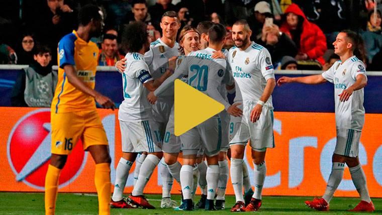 Goleada del Real Madrid para pasar a octavos como segundo