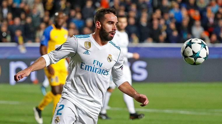 La UEFA expedienta a Carvajal por forzar la tarjeta amarilla