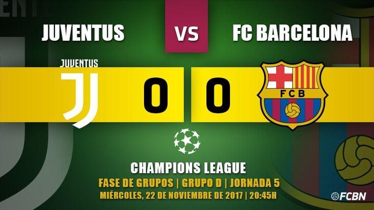 Empate del Barça en Turín para asegurar el primer puesto