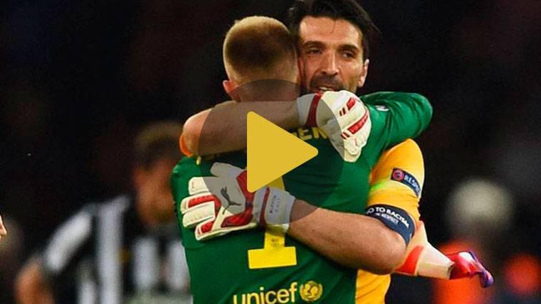 """Buffon, a Ter Stegen tras el Juve-Barça: """"¡La que has sacado!"""""""