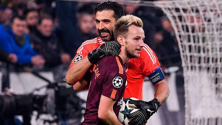 Rakitic y Buffon volvieron a cruzarse tras el Juventus-Barça