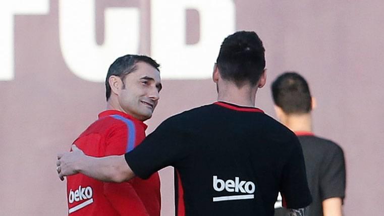 El pacto de Valverde y Leo Messi tras el derbi de Madrid