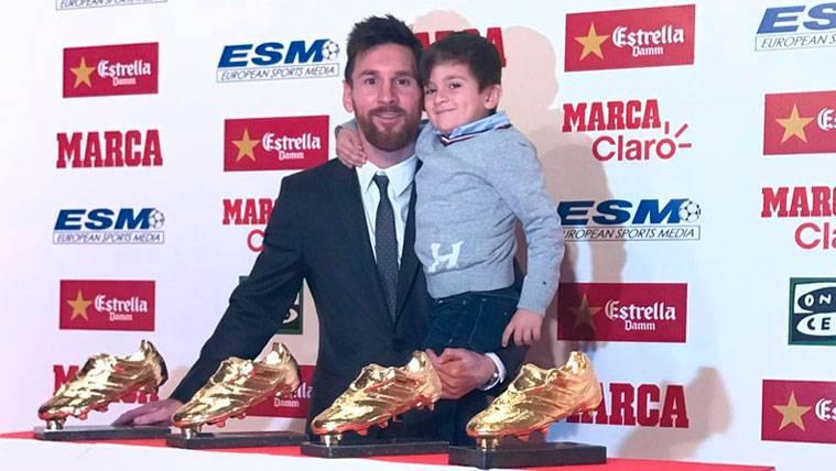 La felicitación de Antonella a Leo Messi por su Bota de Oro