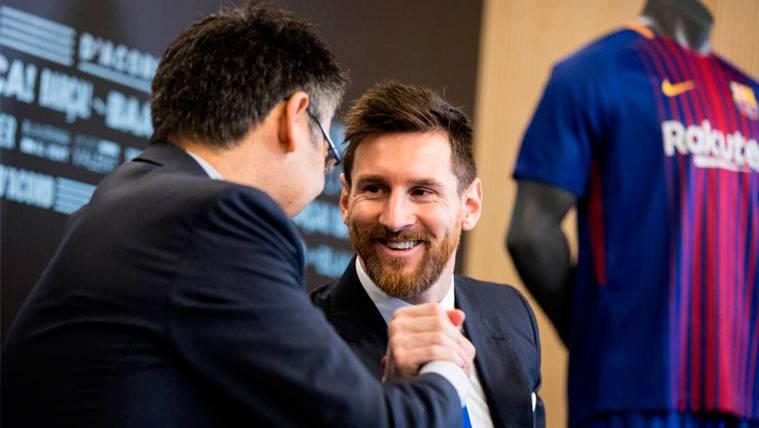 Bartomeu explica porqué se demoró la renovación de Messi