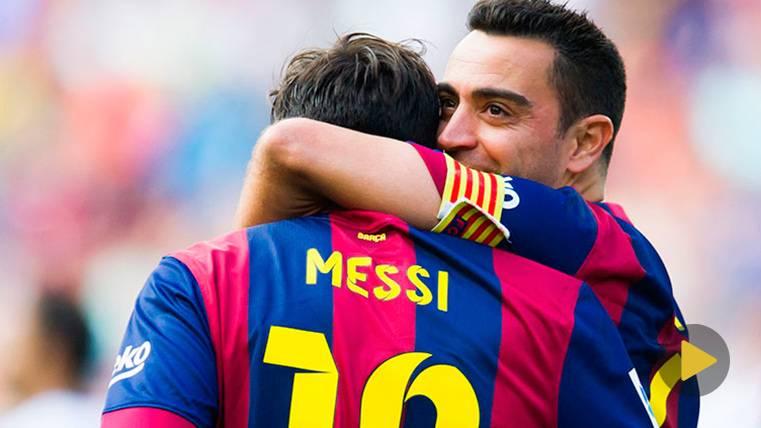 """Xavi: """"A Messi se le veía distinto desde el primer entrenamiento"""""""