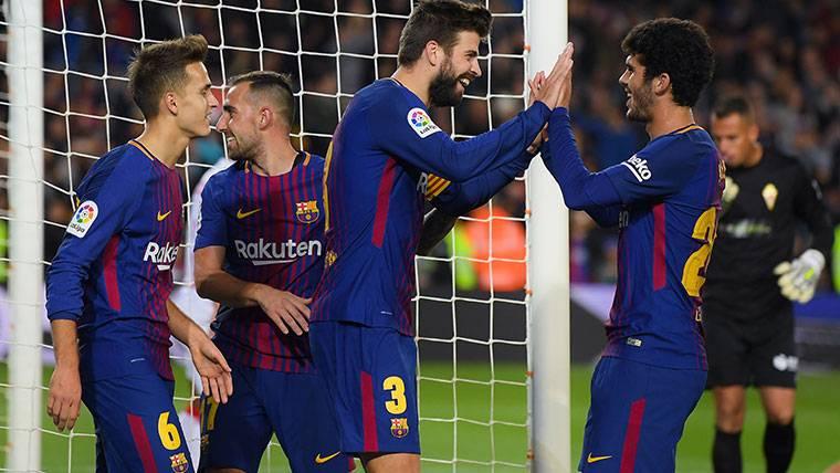 'Piquenbauer' no pierde el hambre de gol con el Barcelona
