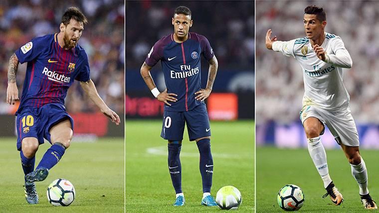 Las previsiones de Messi, Neymar y Cristiano para el Mundial