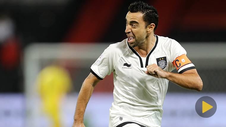 Xavi Hernández se destapa como goleador en la liga de Qatar