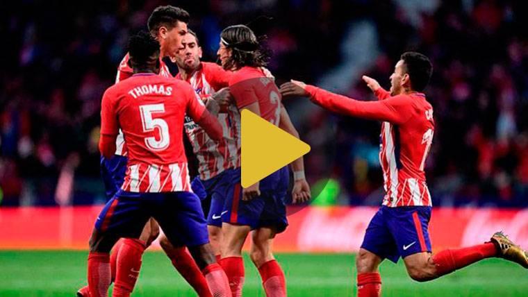 El Atlético remonta y se coloca a seis puntos del Barcelona