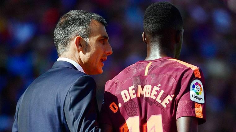 Ousmane Dembélé, lesionado en el Getafe-FC Barcelona