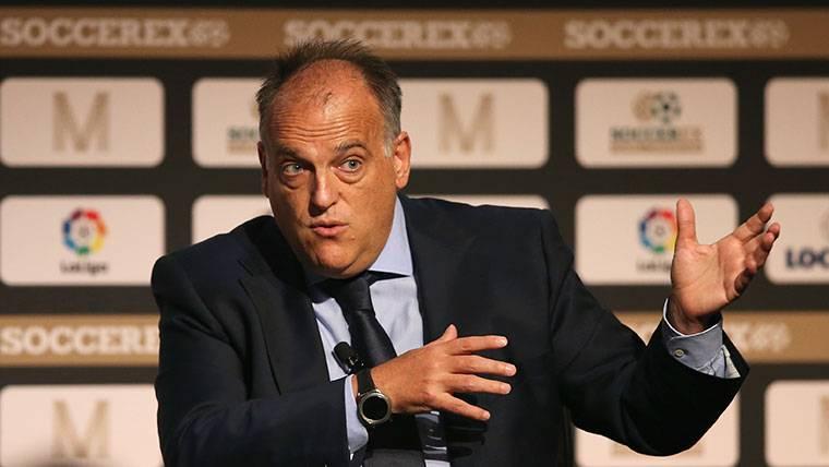 """Tebas, sobre el Clásico: """"Espero que no haya gol fantasma"""""""