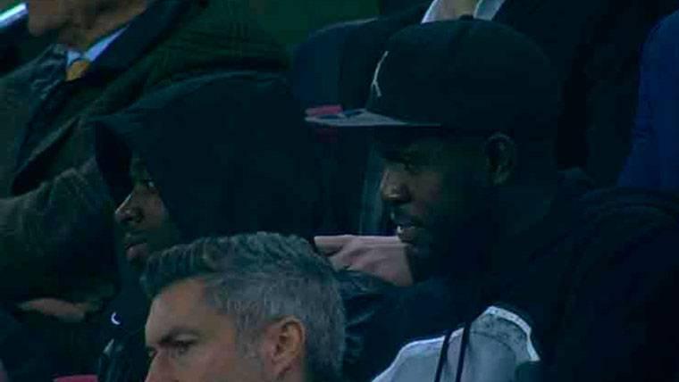 Umtiti y Dembélé no perdieron detalle del Barça-Sporting