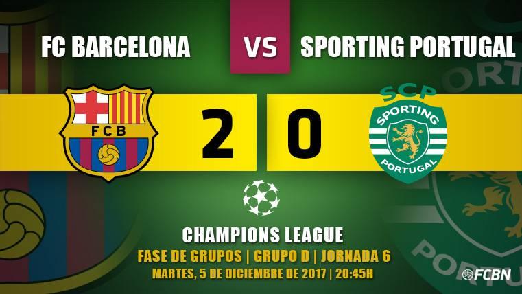 Crónica del FC Barcelona-Sporting de la J6 de la Champions League