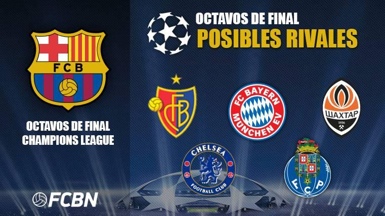Posibles rivales del FC barcelona
