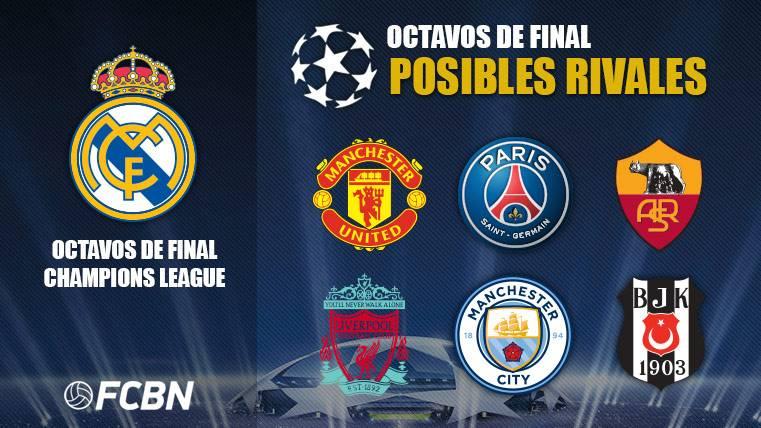 Los posibles rivales del Madrid
