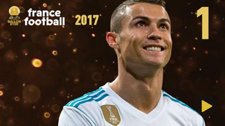 OFICIAL: Cristiano gana el Balón de Oro 2017 por delante de Messi