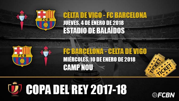 Entradas FC Barcelona vs Celta de Vigo - Copa del Rey