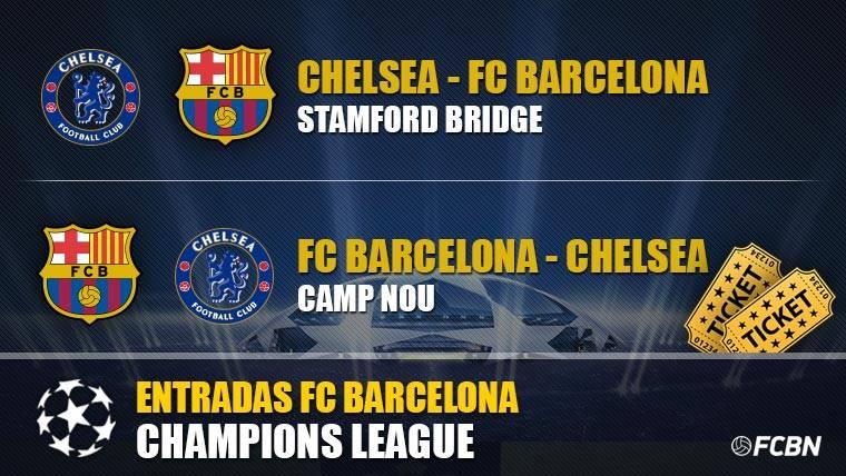 Entradas FC Barcelona vs Chelsea - Champions League
