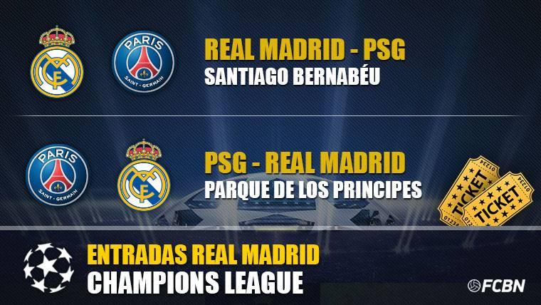 Entradas PSG vs Real Madrid - Champions League