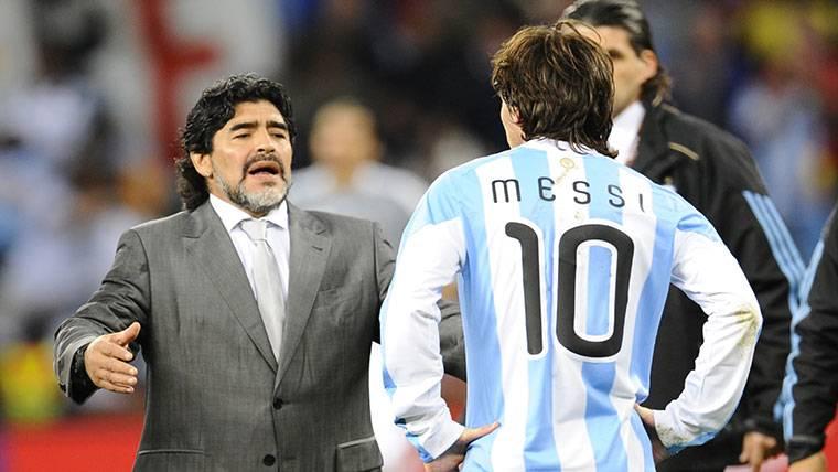 Maradona desvela qué le falta a Leo Messi para ser como él