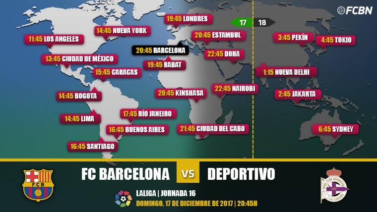 Cuándo y dónde ver el FC Barcelona vs Deportivo