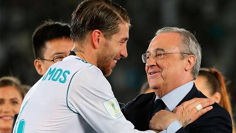 Florentino aprovecha a Sergio Ramos para rajar de los árbitros