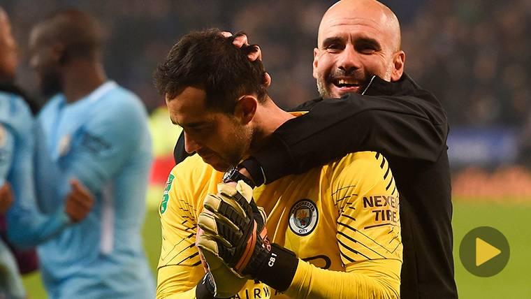 TENSIÓN: Polémica reacción de Bravo a un gesto de Guardiola