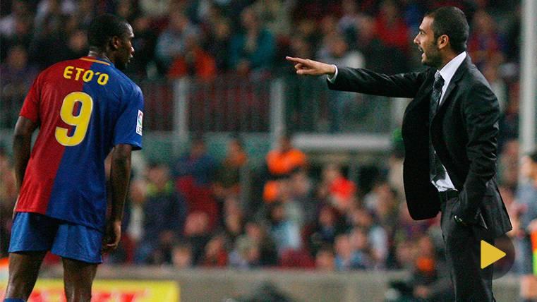 Samuel Eto'o habla sobre su mala relación con Pep Guardiola