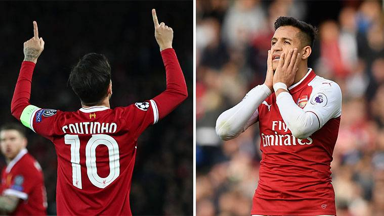 Inglaterra destaca las diferencias entre Coutinho y Alexis