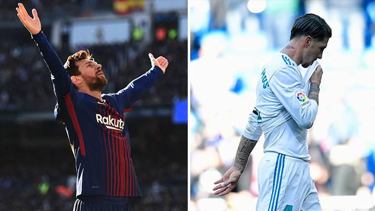 Leo Messi y Sergio Ramos, la cara y la cruz de los Clásicos