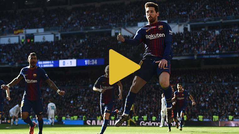 El gol y el festejo de Messi en el Clásico, desde otra perspectiva