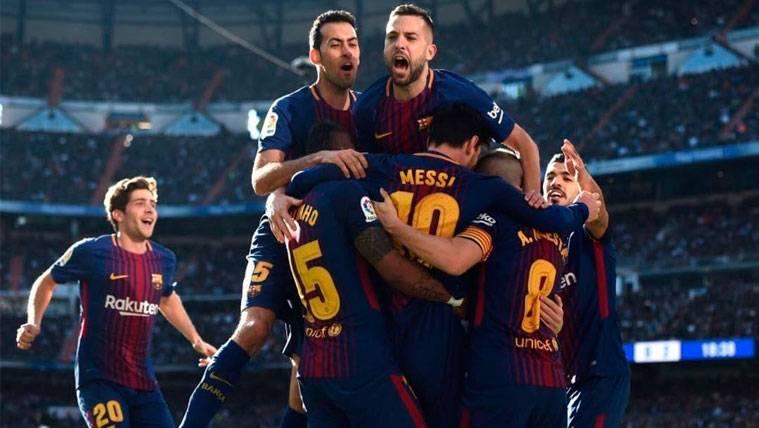 Así celebró Dembélé la victoria del FC Barcelona en el Clásico