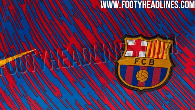 El Barça podría cambiar su camiseta de calentamiento 2018