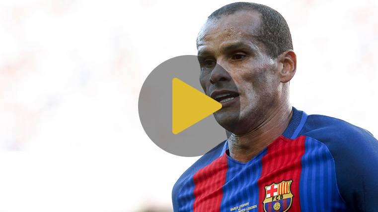 Rivaldo protagoniza la sorpresa navideña del FC Barcelona