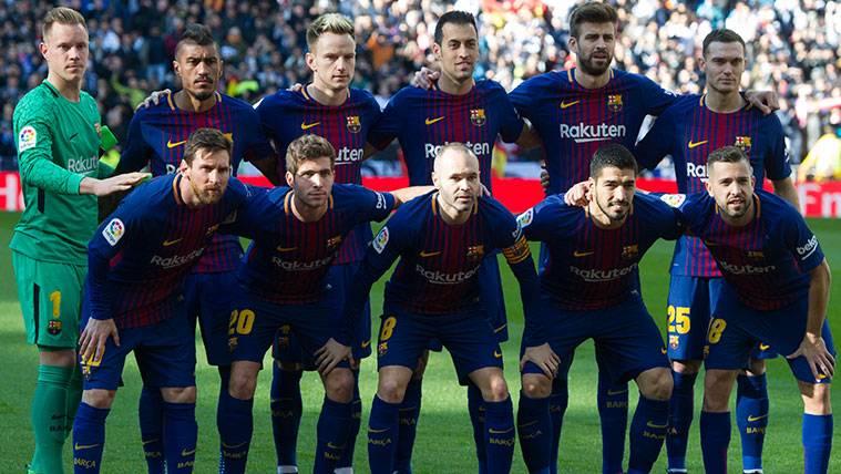 El Barça repitió siete titulares en sus tres triunfos en el Bernabéu