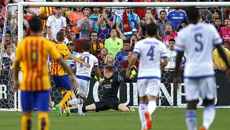 La debilidad de Hazard cuando se mida al Barça en Champions