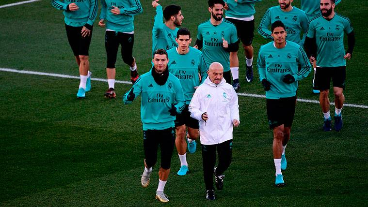 Cristiano se mosquea con Zidane en el entrenamiento del Madrid