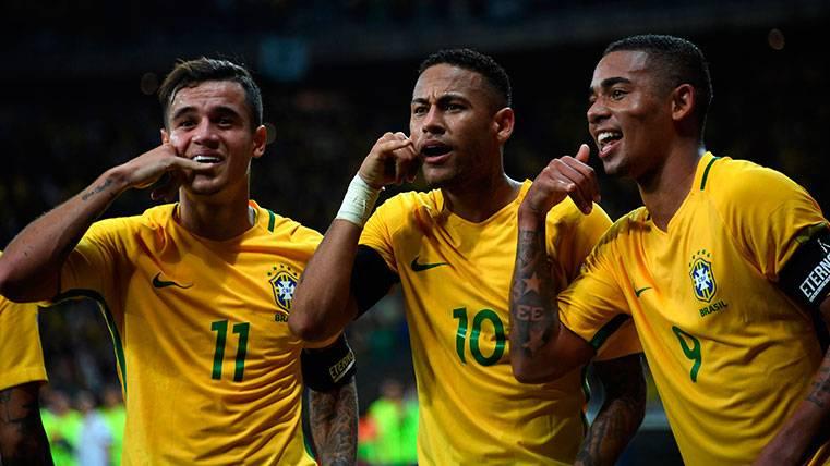 Neymar, mejor brasileño de 2017 por delante de Coutinho
