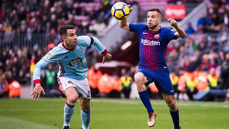 Partido de liga entre Celta y Barça