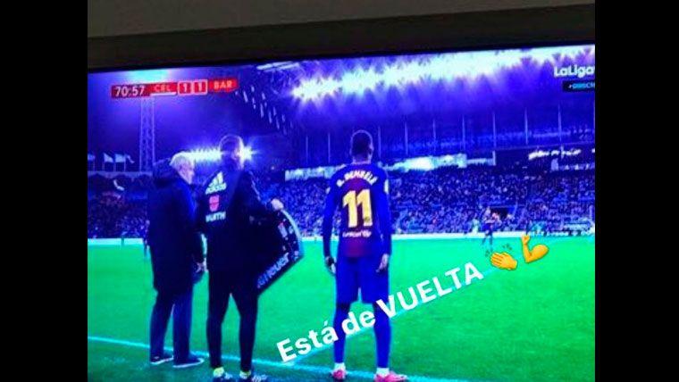 Luis Suárez no se perdió al Barça... Ni el retorno de Dembélé