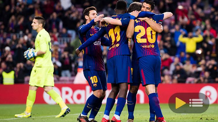 Vídeo resumen: FC Barcelona 3 Levante 0 (LaLiga J18)