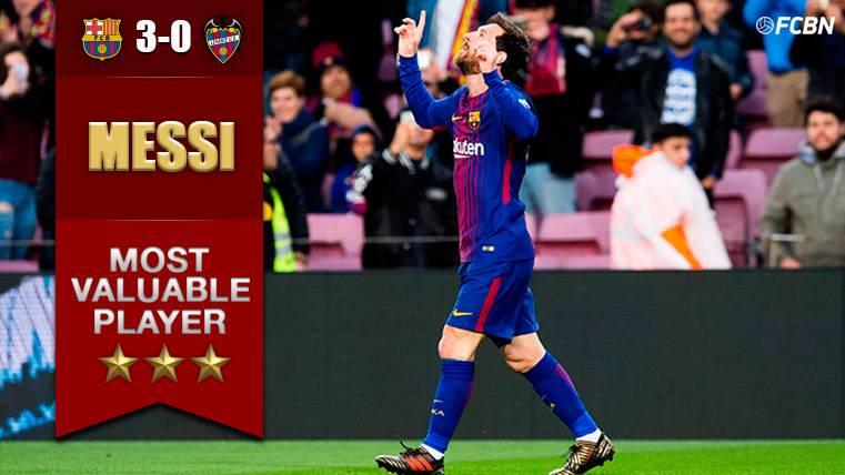 MVP: Leo Messi da otro recital en su partido 400 en LaLiga