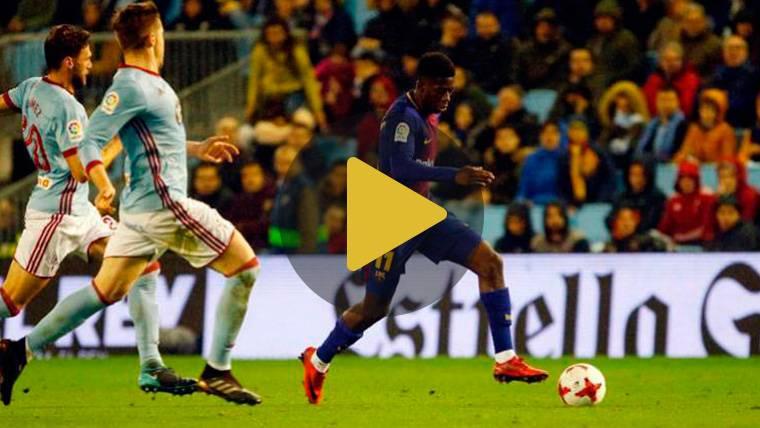 Dembélé no frena, estrena 2018 como titular en el Camp Nou