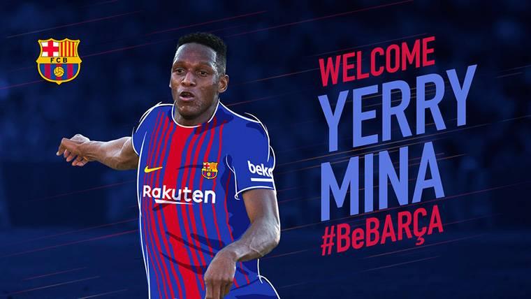 Ya se puede comprar la camiseta de Yerry Mina con el Barça