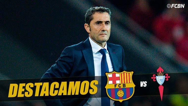 Ernesto Valverde, durante un partido del Barça en el Camp Nou