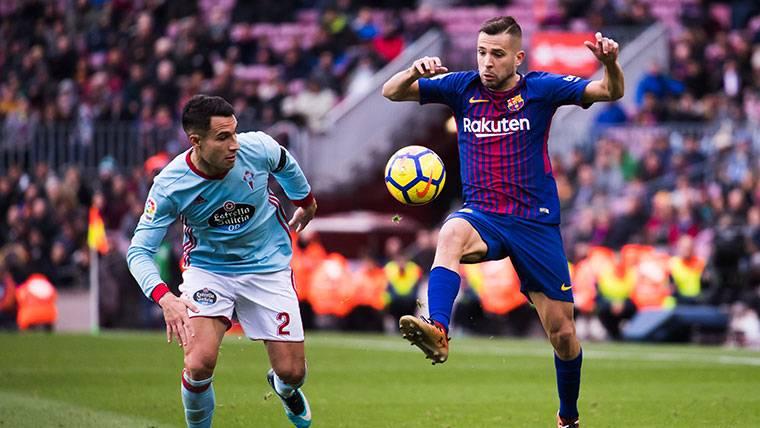 Jordi Alba, durante el último partido contra el Celta de Vigo
