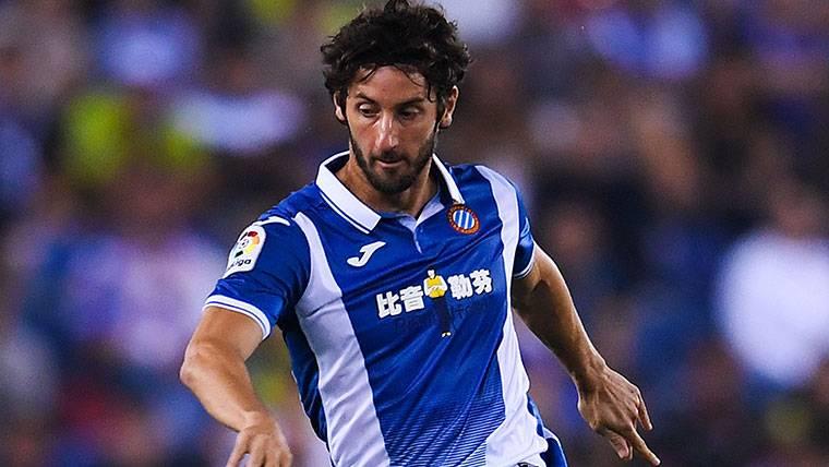 Esteban Granero, durante un partido con el RCD Espanyol