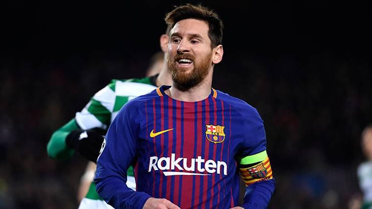 Leo Messi, durante un partido con el FC Barcelona